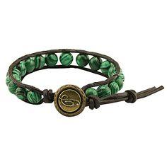 8mm Natural Malachite Beads One Wrap Leather Bracelet for Women Personalized Jewelry 7.8'' Annie Jewelry http://www.amazon.com/dp/B01CQWOSW0/ref=cm_sw_r_pi_dp_E62bxb1F0BBM0