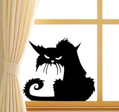 Black cat window decal http://www.findyourprint.com/halloween
