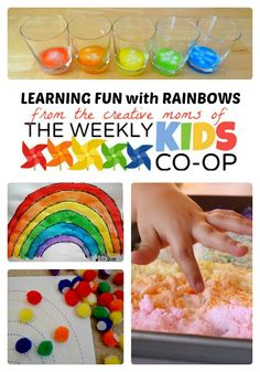 Make Learning Fun with Rainbow Activities for Kids from The Weekly Kids Co-Op at B-Inspired Mama - #kids #rainbows #learning #preschool #binspiredmama #kbn