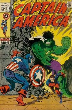 Marvel Comics Retro: Captain America Comic Book Cover with the Hulk and Bucky Marvel Comics Poster - 30 x 41 cm Marvel Comics, Marvel Comic Books, Comic Book Heroes, Comic Books Art, Hulk Marvel, Avengers, Jack Kirby, Comic Book Artists, Comic Book Characters