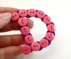 DIY #buttons + wire = letters :nice dangle on handbag or on door childsroom etc.