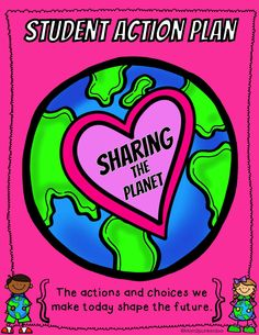 Earth Day - Sharing the Planet - students choose an action they can do to help shape the future.  #PYP #sharingtheplanet #EarthDay