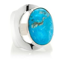Jay King Oval Blue Kingman Turquoise Sterling Ring