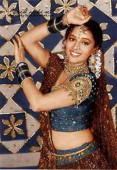 """The greatest Bollywood actress: Madhuri Dixit - I simply adore her. This picture is a promo one for Anjaam - its dance number """"Chane Ke Khet Mein"""" is ju. Vintage Bollywood, Indian Bollywood, Bollywood Stars, Beautiful Girl Indian, Most Beautiful Indian Actress, Beautiful Bollywood Actress, Beautiful Actresses, Bridal Makeup Images, Madhuri Dixit Hot"""