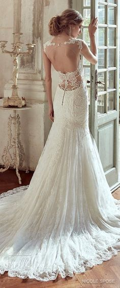 Nicole Spose Wedding Dress Collection 2017 #weddingdress