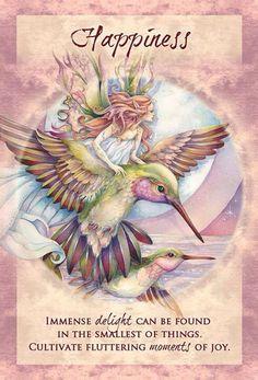 """Happiness"" Magical Times Empowerment Cards par Jody Bergsma from U. Games Inc Angel Guidance, Oracle Tarot, Doreen Virtue, Angel Cards, Fairy Art, Card Reading, Chicano, Spirit Animal, Faeries"