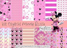 KITS DE PAPEIS DIGITAIS Minnie GRÁTIS PARA BAIXAR Digital Papers free, Digital Scrapbook Paper .