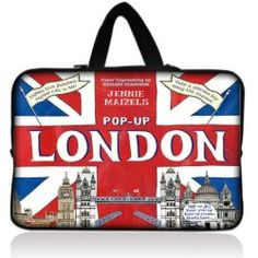 "POP-UP London 17.1"" 17.3"" inch Laptop Bag Sleeve Case with Hidden Handle for Apple MacBook pro 17/Dell Inspiron 17R Alienware M17x/Samsung 700 Sony Vaio E 17/HP"