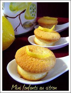 Mini fondants au citron avec seulement 3 blancs d'oeufs