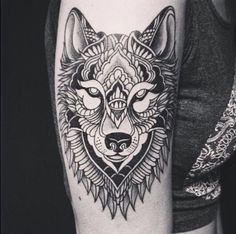 Wolf Tattoo Designs and Ideas on Arm Wolf Tattoos, Tribal Wolf Tattoo, Animal Tattoos, Tatoos, Horse Tattoos, Maori Tattoos, Celtic Tattoos, Wolf Tattoo Design, Tattoo Designs