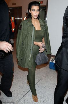 Kim Kardashian wearing Hermes Strappy Sandals, Givenchy Croc-Embossed Mini Pandora Messenger and Faith Connexion Ribbed Tank Dress