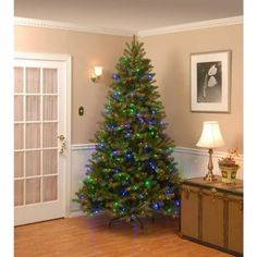 null 12 ft. Dunhill Fir Artificial Christmas Tree with 1500 Clear ...