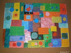 quadrillages Art For Kids, Crafts For Kids, Preschool Writing, Ecole Art, Pre Writing, Art Graphique, Art Club, Art Plastique, Oeuvre D'art