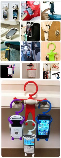 Cheap Unique Cute Shape High Quality Silicone Flexible Holder for iPhone 5/4S/4, Cell Phones, etc Red (RED)   Everbuying.com