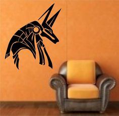Egyptian God Anubis Vinyl Wall Decal Sticker Art Decor Bedroom Design Mural interior design ancient god egypt by StateOfTheWall on Etsy https://www.etsy.com/listing/222930031/egyptian-god-anubis-vinyl-wall-decal
