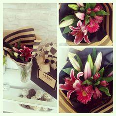 Wedding Bouquet Idea / Wedding Arrangement Idea....Purple Lilies, Purple Gerber Dasies, Purple Dahlias & Purple Alstroemerias Bouquet