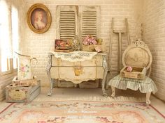Marie Antoinette miniatuur commode Shabby door AtelierMiniature