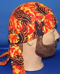 Tribal Dragons and Flames Biker Do Rag Motorcycle Riding Head Wrap Last One  Available by radwrapz b99966cc5ceb