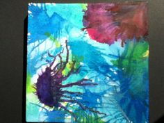 Melted crayon jellyfish on canvas