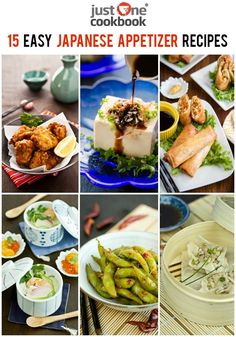 15 Easy Japanese Appetizer Recipes - easy, simple, and delicious Japanese appetizers that are sure to be a crowd-pleaser! Japanese Side Dish, Japanese Dinner, Japanese Food, Japanese Recipes, Tapas, Asian Recipes, Healthy Recipes, Ethnic Recipes, Savoury Recipes