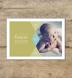 Baby- & Geburtskarten - Taufkarte | Kaspar - ein Designerstück von DaisyDesignStudio bei DaWanda