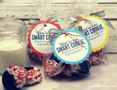 school treat. dipped oreo. any sprinkle holiday. { HappyLittleArt }