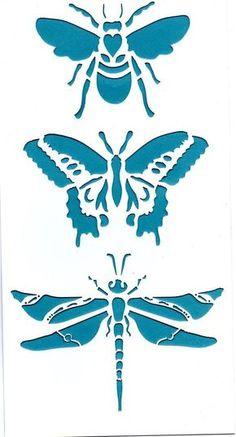 sjablonen diy canvas cut-out Stencils, Stencil Art, Bee Stencil, Butterfly Stencil, Stencil Patterns, Stencil Designs, Stencil Templates, Paper Art, Paper Crafts