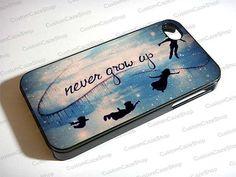 Peter Pan Never Grow Up on Star Sky Galaxy Nebula - iPhone 4 / iPhone 4S / iPhone 5 Case Cover 451K