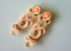 Earrings Soutache Jewelry, Drop Earrings, Handmade, Fashion, Moda, Drop Earring, Fasion, Hand Made, Dangle Earrings
