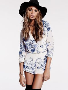 Love the style, but inseam too short for me. Free People Float Away Romper, $128.00