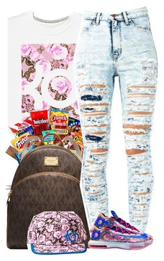 """kd"" by polyvoreluv ❤ liked on Polyvore featuring NIKE, Junk Food Clothing and MICHAEL Michael Kors"