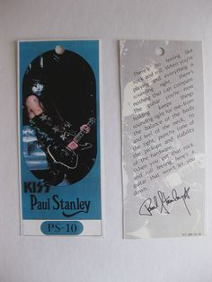 Kiss Paul Stanley Ibanez PS-10 1980 Vintage Guitar Hang Tag