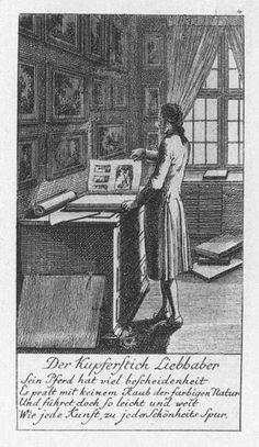 Der Kupferstich-Liebhaber, Kupferstich von Daniel Chodowiecki