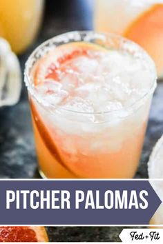 These easy pitcher palomas make for the perfect refreshing tequila cocktail! Refreshing Summer Drinks, Fruity Drinks, Fun Drinks, Yummy Drinks, Beverages, Alcoholic Drinks, Juice Drinks, Mixed Drinks, Easy Cocktails