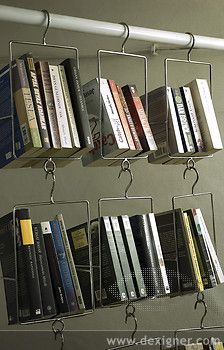 unique bookshelves ... or a great way to store a number of things