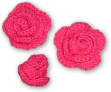 Crochet Rose -- looks wonderful put with DIY Crochet Headwrap from sweetsweezer.blogspot.com (also pinned on my board).