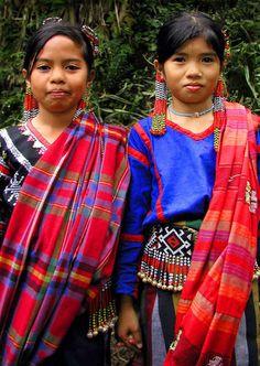 Children wearing traditional T'boli Garb, Mindanao, Philippines