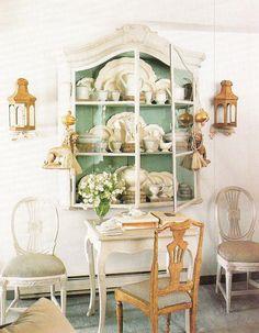 Display... Beautiful old refurbished china cabinet