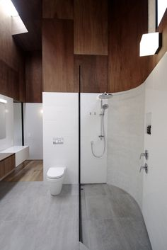 We love: adjustable slide rail on the shower, the level entry shower, the lever style tap. We need: a toilet against a wall to add a grab rail and some space under the sink for wheelchair users.