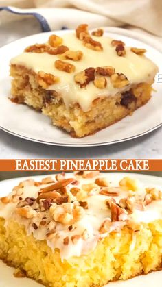 Easiest Pineapple Cake is a one bowl wonder made without oil or butter in the homemade cake batter. Easiest Pineapple Cake is a one bowl wonder made without oil or butter in the homemade cake batter. Easy Pineapple Cake, Pineapple Dessert Recipes, Best Dessert Recipes, Desert Recipes, Easy Desserts, Delicious Desserts, Cake Recipes, Easiest Pineapple Cake Recipe, Oreo Desserts