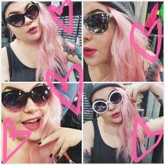 Me ei ainakaan anneta ton mälsän sään lannistaa! @nellikentta #sunglasses #glasses #chooseyourstyle #spring #summeriscoming #pastelhair #pinkhair #candyfloss #piercing #nosering #piercedgirls #tattoo #tattooedgirls #ink #inkedgirls #cybershop #cybershopkamppi #kamppi Kurt Cobain, Sunglasses, Spring, Instagram Posts, Style, Fashion, Swag, Moda, Fashion Styles