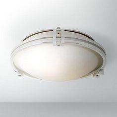 """Possini Euro Design Chrome 12 3/4"""" Flush Mount Ceiling Light"""
