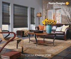 Nuestras Romanas Store, son las únicas cortinas plegables con sus finas terminaciones sin costuras a la vista, están diseñadas para personas con gustos clásicos y elegantes. #HunterDouglas #TipsDecoHD