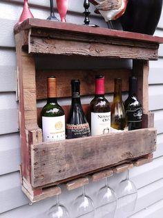Wine rack wine decor wine glass holder bar decor by NotTheJoneses, $45.00