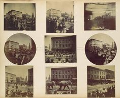 """Amateur Snapshot Album, 1890–92  Unknown Artist, American School  286 cyanotypes and gelatin silver prints. The Kodak Number One camera was first marketed in 1888. This camera made photography accessible to the masses, as even a technical neophyte could capture """"snapshots"""" of his or her daily experiences."""