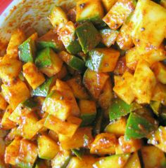 How to make Mango Pickle. Step by step instructions to make Mango Pickle . Pickle Mango Recipe, Lunch Buffet, Mango Recipes, Indian Food Recipes, Ethnic Recipes, Lunch Snacks, Indian Dishes, Canning Recipes, International Recipes