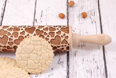 WOOD you love me? Bake great cookies for many occasions (Valentines day, anniversary etc)    Inside the package you will get your chosen rolling pin
