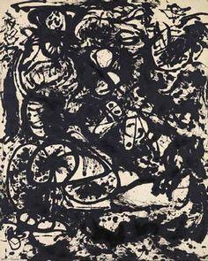 Jackson Pollock-Black and White No. 6