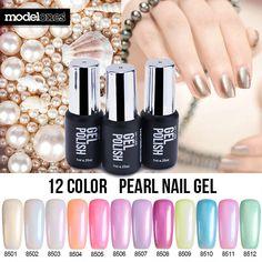 Modelones 7ML Hot Sale Pearl UV Nail Gel Polish Pure Color UV Gel Polish Soak Off Led Professional Gel Polish Long Lasting Gel