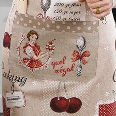 Linen « Quel régal ! » Large apron